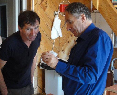 Après la visite, je poursuis la discussion avec Sylvain Rémillet autour de toute la gamme de ses produits.